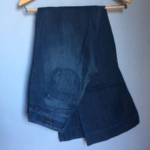 LUCK BRAND Dungarees Dark Wash Wide Leg Jeans 2/26